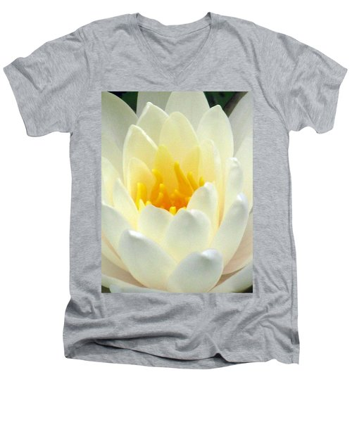 Men's V-Neck T-Shirt featuring the photograph The Water Lilies Collection - 10 by Pamela Critchlow