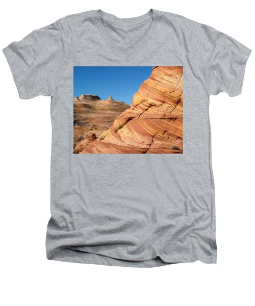 'the Wave' North Coyote Buttes 13 Men's V-Neck T-Shirt