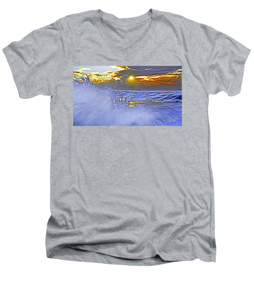 The Wave Which Got Me Men's V-Neck T-Shirt