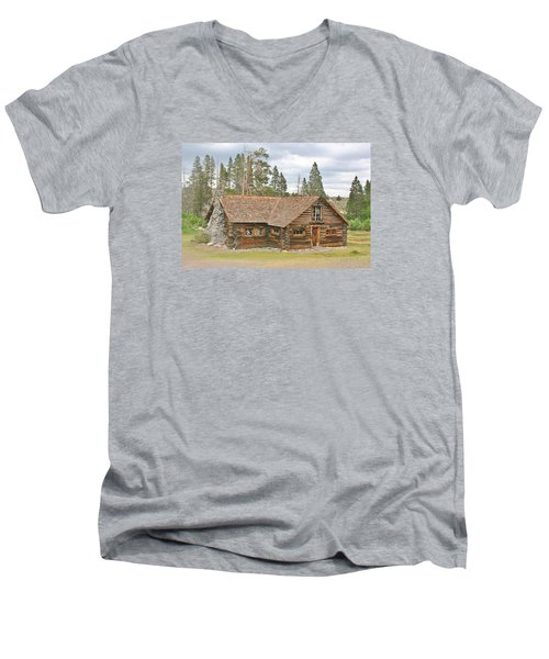 Men's V-Neck T-Shirt featuring the photograph The Way It Was by Marilyn Diaz