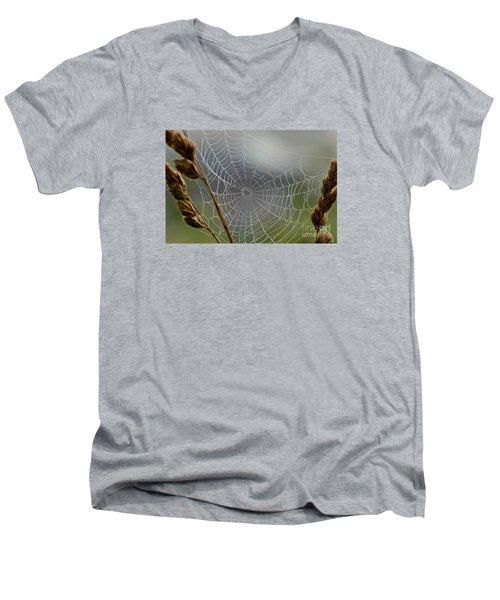 The Web Men's V-Neck T-Shirt by Kerri Farley