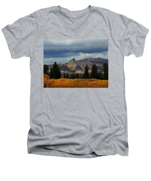 Men's V-Neck T-Shirt featuring the photograph The Wedge by Raymond Salani III