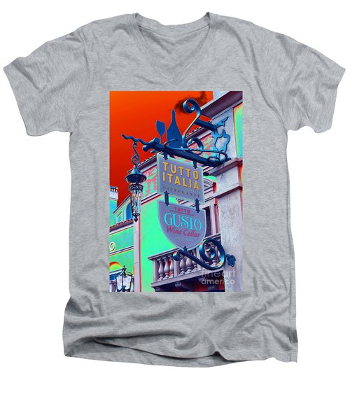 Men's V-Neck T-Shirt featuring the photograph The Wine Cellar II by Robert Meanor