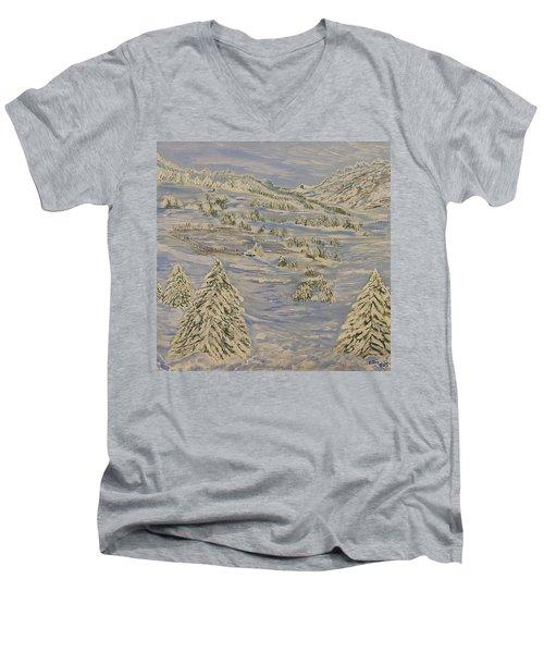 The Winter Heart Men's V-Neck T-Shirt by Felicia Tica