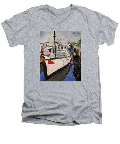 The Wooden Work Boats Men's V-Neck T-Shirt