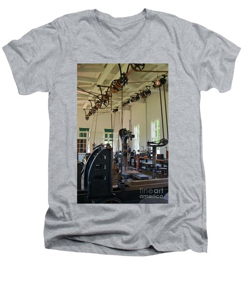 The Work Shop Men's V-Neck T-Shirt by Patrick Shupert