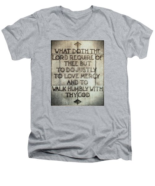 Men's V-Neck T-Shirt featuring the photograph The Writing Is On The Wall by Glenn McCarthy Art and Photography