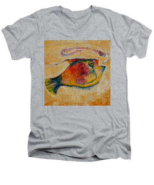 The Wrong Decision  Men's V-Neck T-Shirt by Jean Cormier