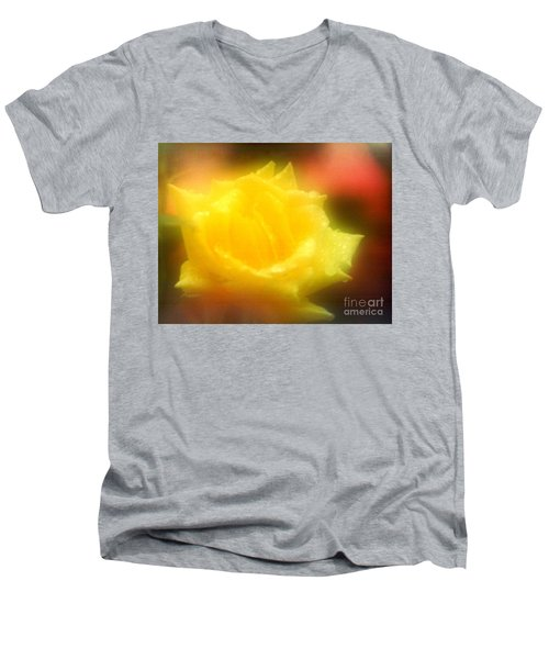 Men's V-Neck T-Shirt featuring the photograph New Orleans  Yellow Rose Of Tralee by Michael Hoard