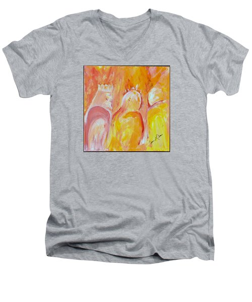 there I AM Men's V-Neck T-Shirt by Cassie Sears