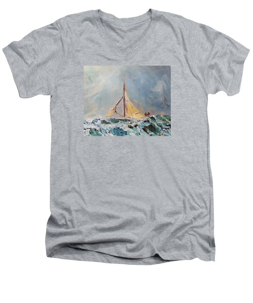 There's Always Hope Men's V-Neck T-Shirt by Michael Helfen