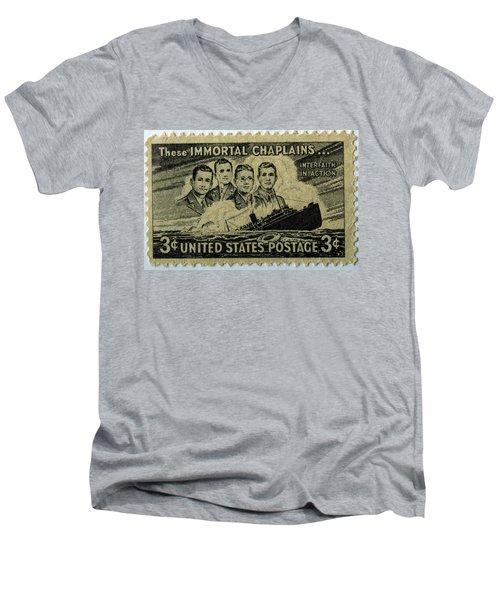 These Immortal Chaplains Men's V-Neck T-Shirt