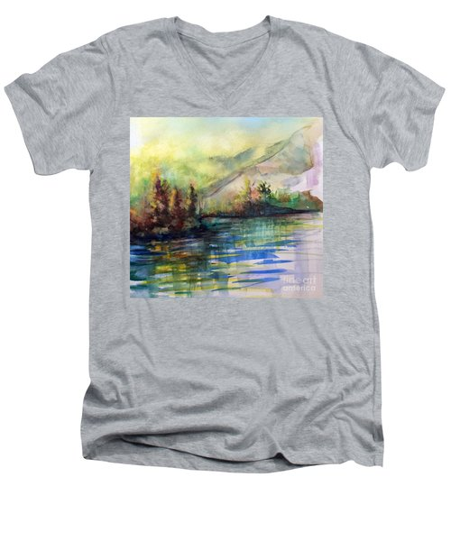 Men's V-Neck T-Shirt featuring the painting Thinking Of Sargent by Allison Ashton