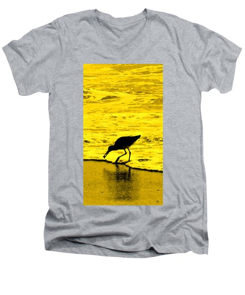 Men's V-Neck T-Shirt featuring the photograph This Beach Belongs To Me by Ian  MacDonald