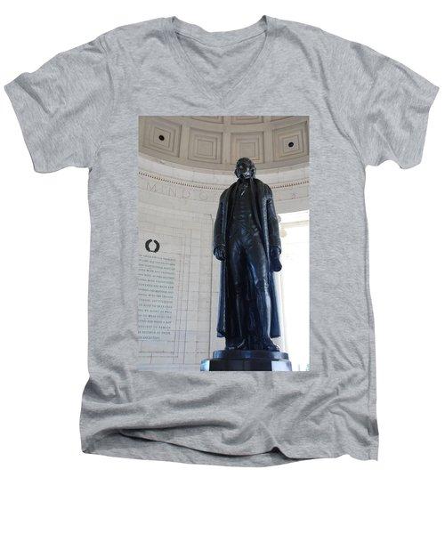 Thomas Jefferson Statue Men's V-Neck T-Shirt