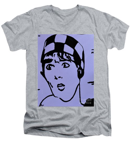 Thoroughly Modern Millie Men's V-Neck T-Shirt by Alys Caviness-Gober
