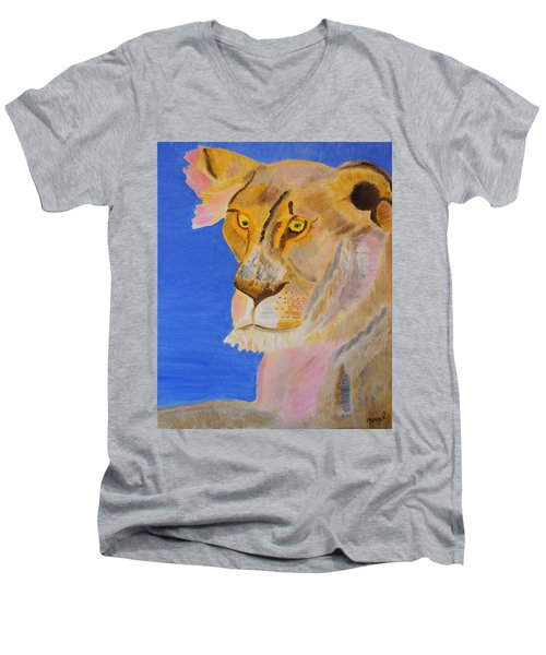 Thoughts Of A Feline Men's V-Neck T-Shirt