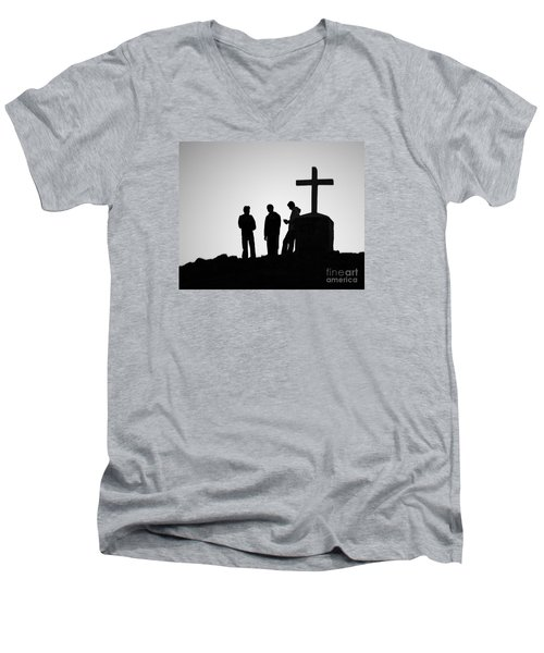 Three At The Cross Men's V-Neck T-Shirt