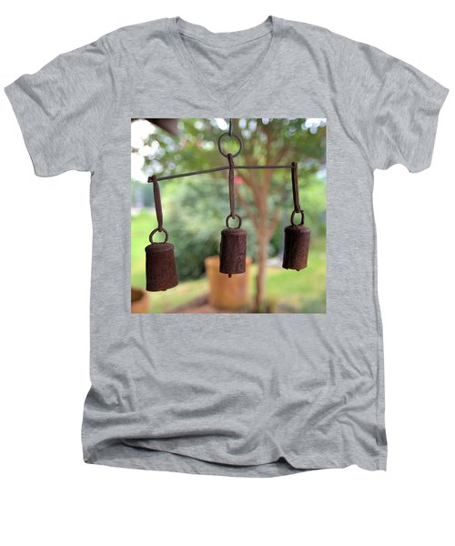 Three Bells - Square Men's V-Neck T-Shirt
