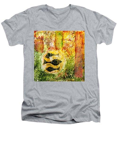 Three Fishes Men's V-Neck T-Shirt
