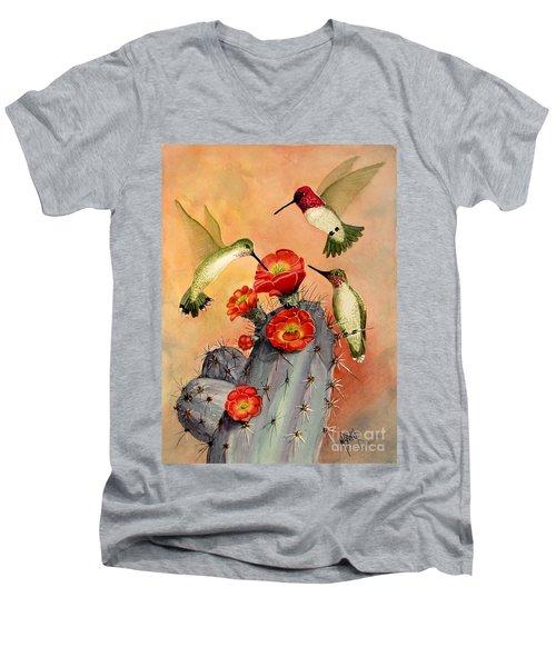 Three For Breakfast Men's V-Neck T-Shirt