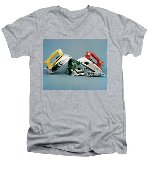 Three Irons By Casco Products Men's V-Neck T-Shirt