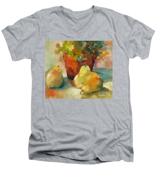 Three Pears And A Pot Men's V-Neck T-Shirt