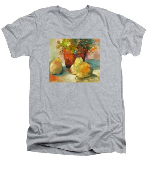 Three Pears And A Pot Men's V-Neck T-Shirt