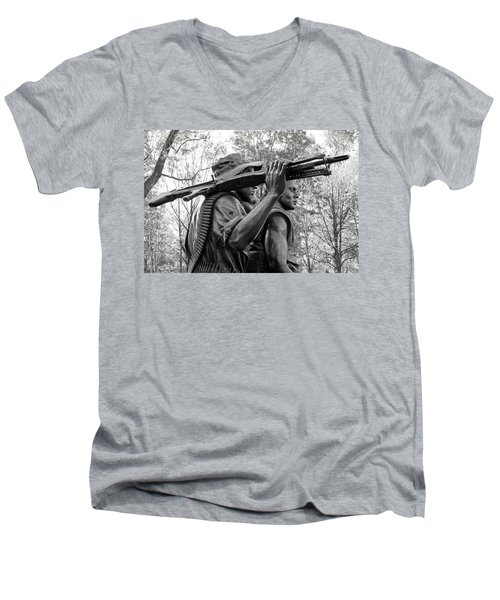 Three Soldiers In Vietnam Men's V-Neck T-Shirt by Cora Wandel
