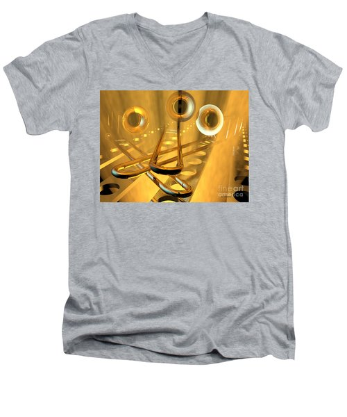 Three Trombones Men's V-Neck T-Shirt