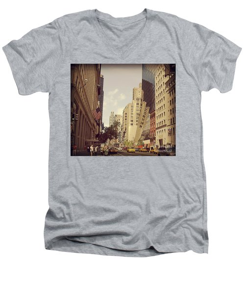 Through The Faded Looking Glass Men's V-Neck T-Shirt