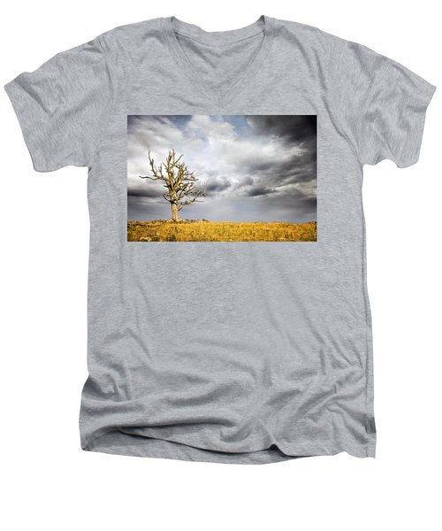 Through The Storms Men's V-Neck T-Shirt by Lana Trussell