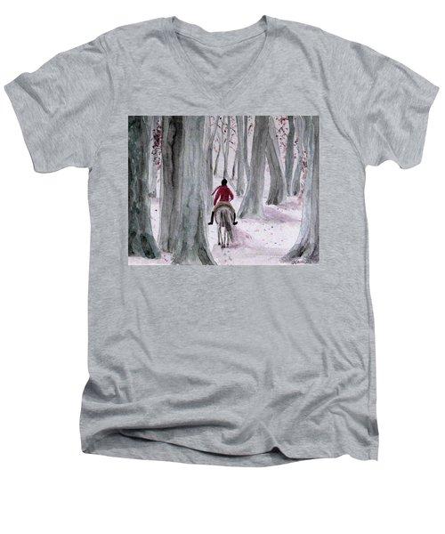 Through The Woods Men's V-Neck T-Shirt
