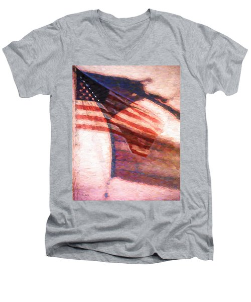 Through War And Peace Men's V-Neck T-Shirt by Bob Orsillo