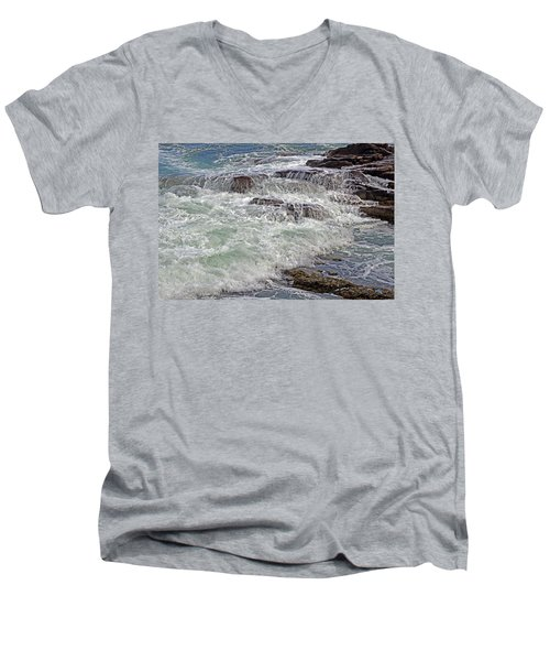 Thunder And Lace Men's V-Neck T-Shirt by Lynda Lehmann