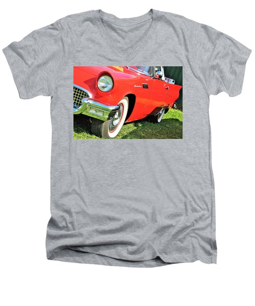 Thunderbird In Red Men's V-Neck T-Shirt