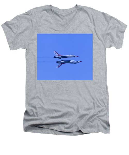 Thunderbirds Solos 6 Over 5 Inverted Men's V-Neck T-Shirt by Donna Corless
