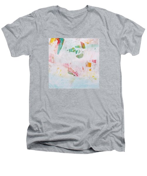 Men's V-Neck T-Shirt featuring the painting Tidal Wash  C2012 by Paul Ashby