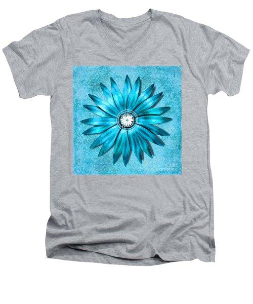 Tiffany Blue And Diamonds Too Men's V-Neck T-Shirt by Saundra Myles
