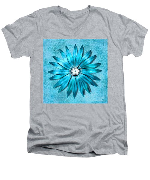 Tiffany Blue And Diamonds Too Men's V-Neck T-Shirt