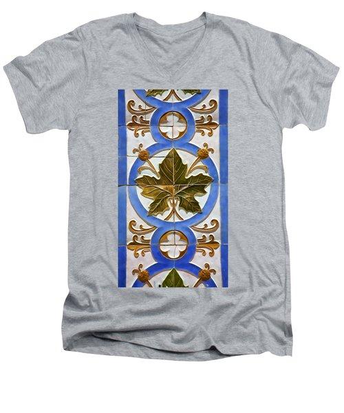 Tile Of Portugal Men's V-Neck T-Shirt