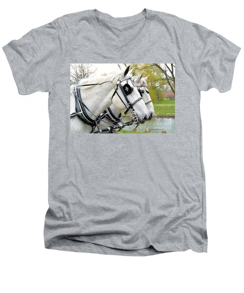 Tillie And Bruce #2 Men's V-Neck T-Shirt by Jeannie Rhode