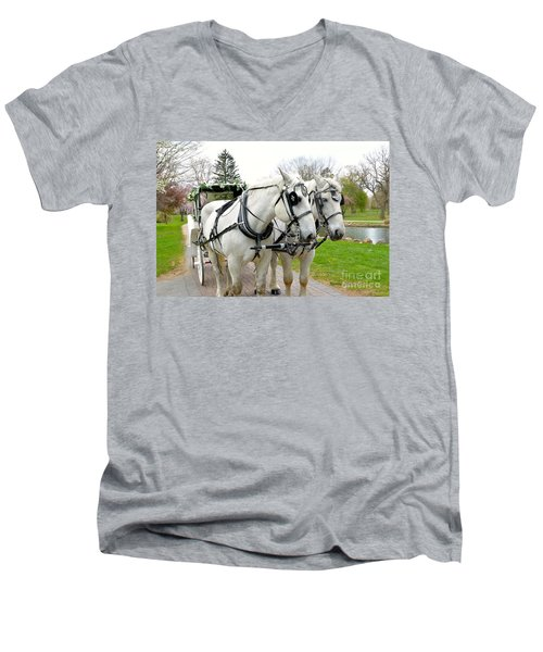 Tillie And Bruce Men's V-Neck T-Shirt