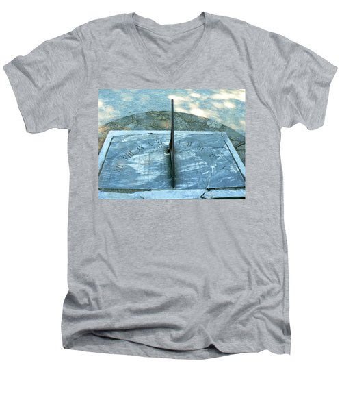 Men's V-Neck T-Shirt featuring the photograph Time Keeps On Ticking by Michael Porchik