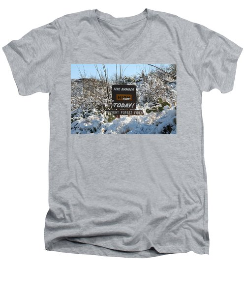 Men's V-Neck T-Shirt featuring the photograph Time To Change The Sign by David S Reynolds