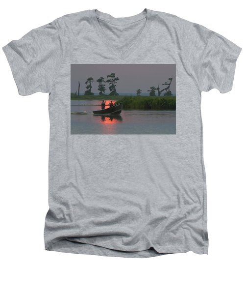 Time With Dad Men's V-Neck T-Shirt