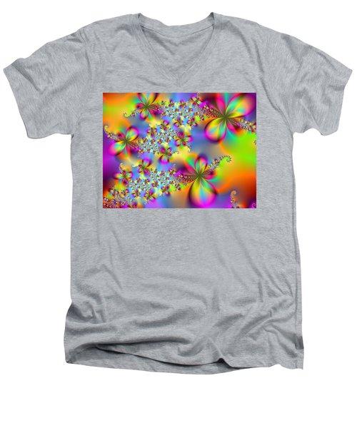 Men's V-Neck T-Shirt featuring the digital art Timeless Elegance by Ester  Rogers
