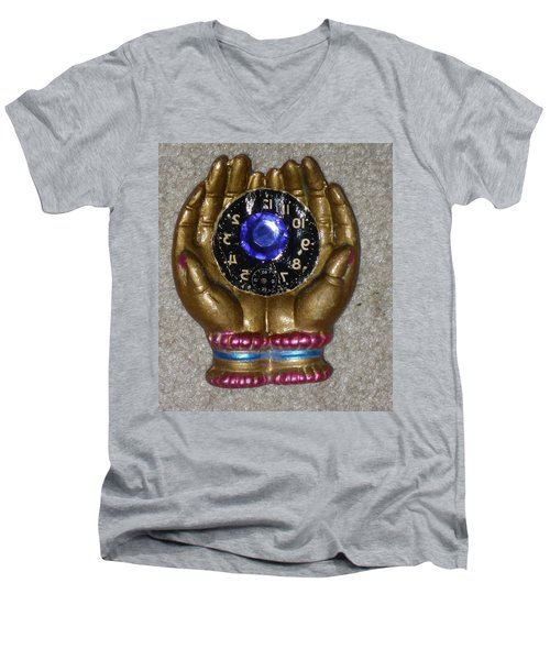 Timeless Hands Men's V-Neck T-Shirt by Douglas Fromm