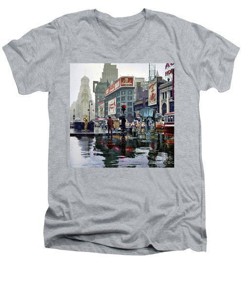 Times Square 1943 Reloaded Men's V-Neck T-Shirt