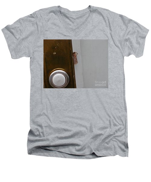 Tiny Doorbell Moth Men's V-Neck T-Shirt